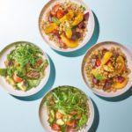 Bulgur & quinoa lunch bowls