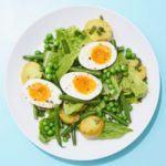 Summer egg salad with basil & peas