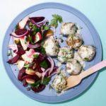 Swedish meatballs with beetroot & apple salad