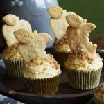 Apple crumble & custard cupcakes