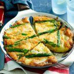 Asparagus & new potato frittata
