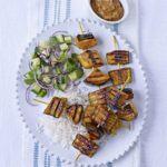 Satay grilled aubergine