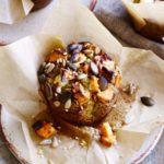 Sweet potato, avocado & feta muffins