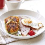 Braised bacon with colcannon cakes