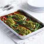 Piri-piri fish & chips with spicy peas