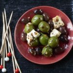 Baked olives with feta