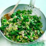Barley couscous & prawn tabbouleh