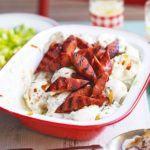 BBQ chorizo potato salad
