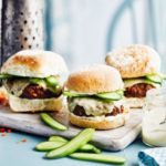 Beef & red pepper burgers