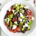 Black bean chimichurri salad