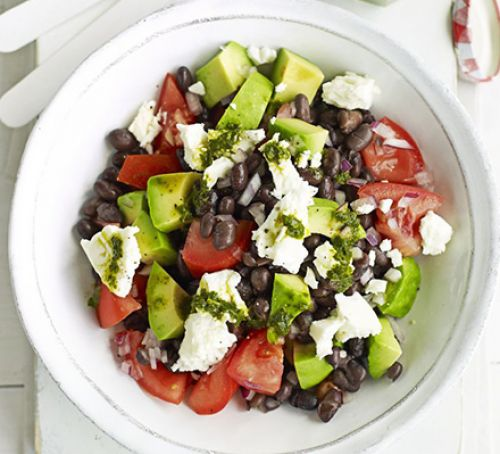 Black bean chimichurri salad Recipe
