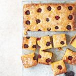 Blackberry bakewell squares