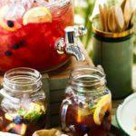 Raspberry lemonade slushies