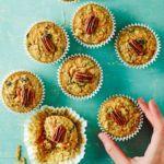 Carrot & pecan muffins