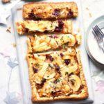 Brie, apple & onion tart