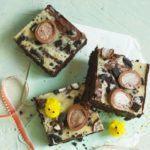 Oreo egg cheesecake brownies