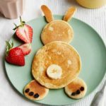 Healthy Easter bunny pancakes