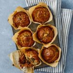 Spiced carrot & apple muffins
