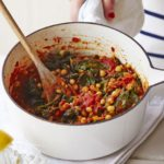Chana masala (chickpea curry) with spinach