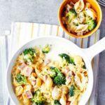 Cheesy ham & broccoli pasta