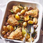 Chicken & new potato traybake