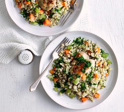 Chicken & pearl barley risotto Recipe