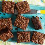 Salted dark chocolate, rye & courgette cake