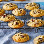 Blueberry & pretzel cookies