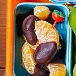 Choco-dipped tangerines