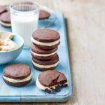 Chocolate peanut butter shortbread sandwiches