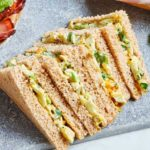 Coronation egg mayo sandwiches