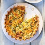 Courgette & double cheese quiche
