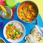 Creamy lentil & veggie curry