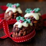 Christmas pudding rice krispie cakes for kids recipe
