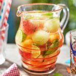 Cucumber, mint & melon punch