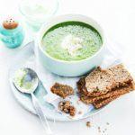 Cucumber, pea & lettuce soup