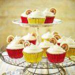 Caramel button cupcakes