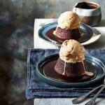 espresso mud cakes chocolate syrup ice cream