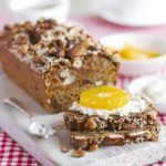 Fig, nut & seed bread with ricotta & fruit