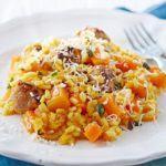 Sausage & squash risotto