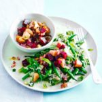 Green rice with beetroot & apple salsa