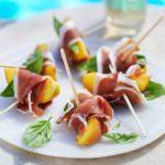 Ham & peach nibbles