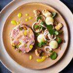 Ham hock & pistachio roll