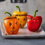 Healthy Halloween stuffed peppers
