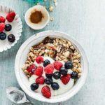 Homemade muesli with oats, dates & berries