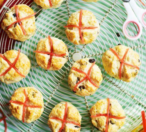 Hot cross scones Recipe