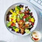 Jerk chicken & mango bowl