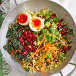 Kale & bulgur tabbouleh with yogurt dressing