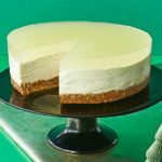 Layered lime cheesecake