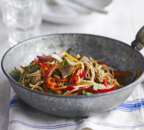 Lamb with buckwheat noodles & tomato dressing Recipe